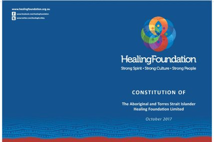 Constitution of the Aboriginal and Torres Strait Islander Healing Foundation Limited May 2017