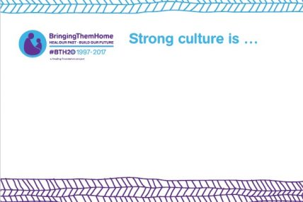 BTH20 Strong Culture Placard