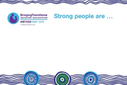 BTH20 Strong People Placard