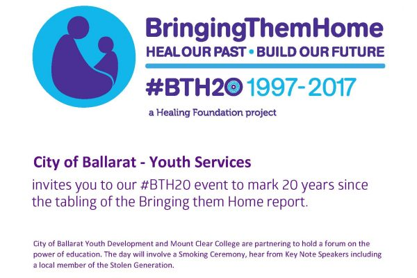 City of Ballarat – Youth Services #BTH20 event