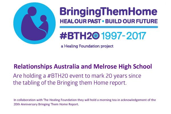 Relationships Australia and Melrose High School #BTH20event